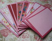 Social Cards with Japanese Flair--Pink\/Red