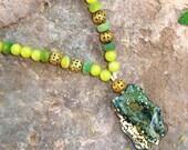 SALE, Wild Ocean Pendant Necklace
