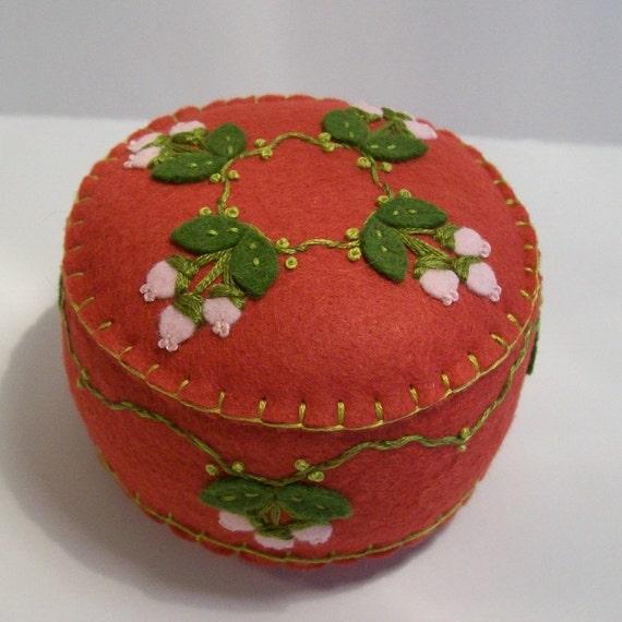 Pink Berries Pincushion