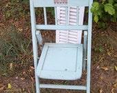 TREASURY Vintage Aqua BABEE-TENDA folding chair toddler