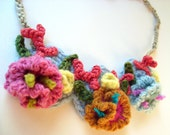 Crochet Necklace Hyperbolic Coral Reef