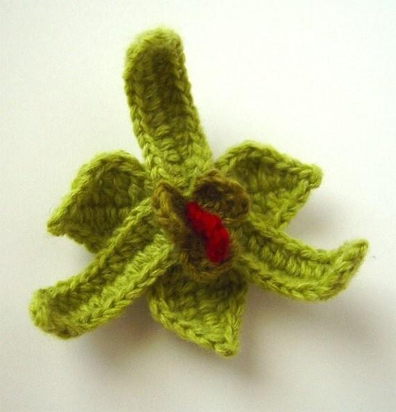 Crochet Orchid Flower Pattern PDF