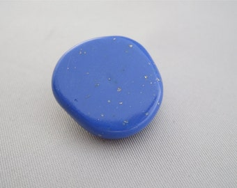 Faux Lapis Polymer Clay Long Shank Button