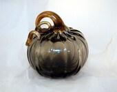 Bronze Hand Blown Glass Pumpkin