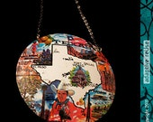 Vintage Texas in Color -- Chunky Crescent Necklace