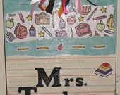 Teacher clipboard (custom orders) - great gift