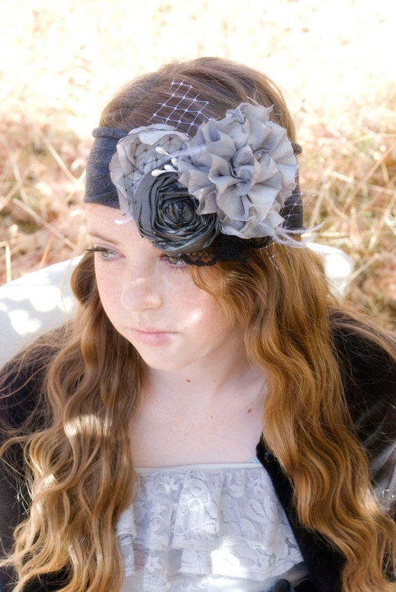 RESERVED for LINDSEY 4 HeadbandsHair Piece Flowergirl Headband Photography Props Wedding Headband M2M Matilda Jane Clothing