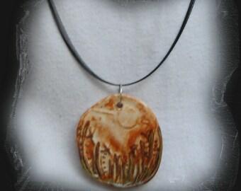 Meadow Stoneware Pendant Necklace