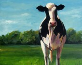 Sophia the Holstein - Original Painting - 16x20 on gallery wrapped canvas