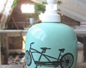tandem bicycle soap/lotion pump