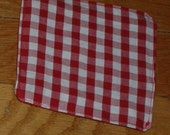 Crinkle Patty Baby Toy--Red Gingham\/Red Solid