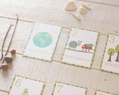 Dutch Number Wall Cards, Gender Neutral Wall Decor, Nature Theme, nursery, baby shower, kids room, kids decor, Scandinavia