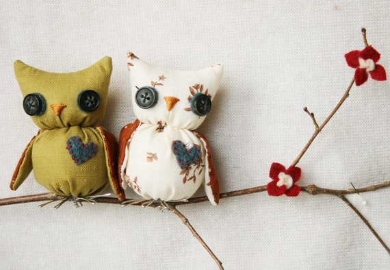 Owls on a Branch-Wall Hanging