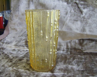 Vintage Amber-Golden Bamboo Glass 1960's-70's