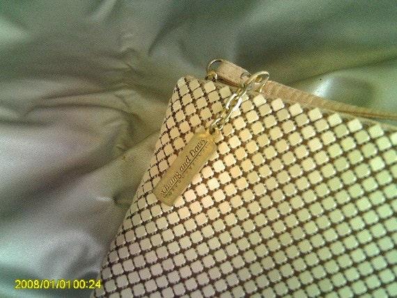 Vintage Whiting and Davis International pale pink/mauve Metal Mesh Evening Bag