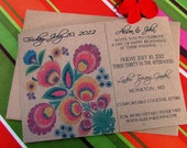 Wedding Invitations, fabulous Indian, Folk, Peruvian, Indian textile wedding
