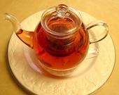 Tea for one glass teapot