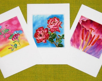 Handmade cards - Flower 03, Red passion