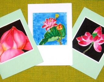 Handmade cards, Flower 02, Lotus