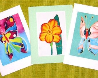 Handmade cards - Flower 01, Butterfly