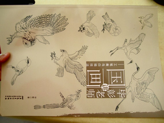 Gongbi outline birds,