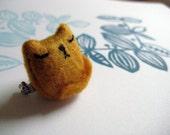 Smug Ginger Cat, the brooch