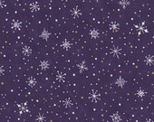 Christmas Spirit Purple Snowflakes Fabric 1 Yard