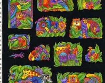 Laurel Burch Fabric Jungle Soul Flannel Panel