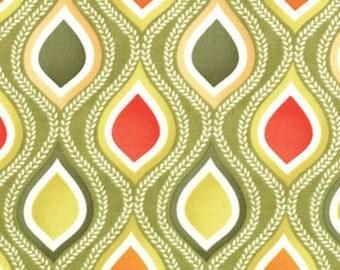Terrain Seed Pods Green, Orange Fabric 1 Yard