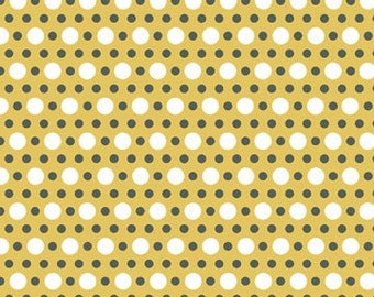 Groovin' Dots on Yellow 1 yard Fabric