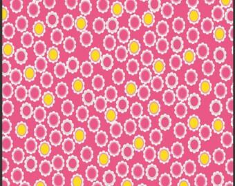 Sugar Yellow Pink Ovals Fabric 1 Yard Art