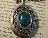 Vintage Faux Turquoise Locket