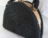 Black Bead Clutch
