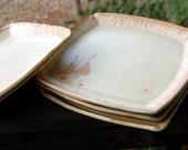 Set of Two Square Dinner Plates in Sunburst