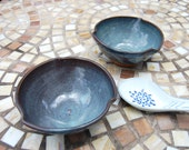 Snack Bowl or Rice Bowl in Slate Blue- Made to Order