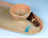 Bread Platter and Dipping Bowl in Sunburst - Made to Order