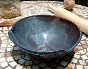 Serving Bowl in Slate Blue - Made to Order