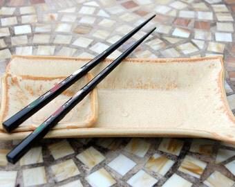 Two Dish Sushi Set in Sunburst Glaze