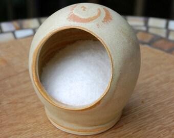Salt Pig or Salt Cellar in Sunburst Glaze- Made to Order