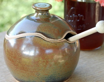 Sugar Bowl / Honey Jar in Brownstone- Made to Order