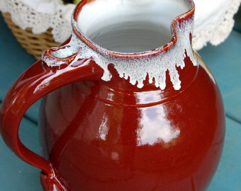 Large One Gallon Red Agate Pitcher - Made to Order