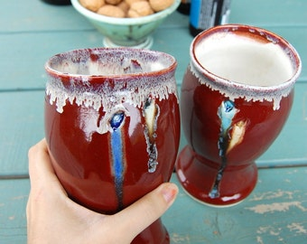 Pint Glass in Red Agate - Made to Order