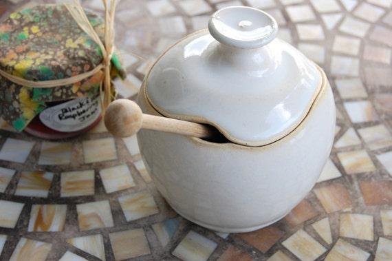 Sugar Bowl / Honey Jar in White - Made to Order