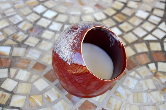 Salt Pig In Red Salt Cellar- Made to Order