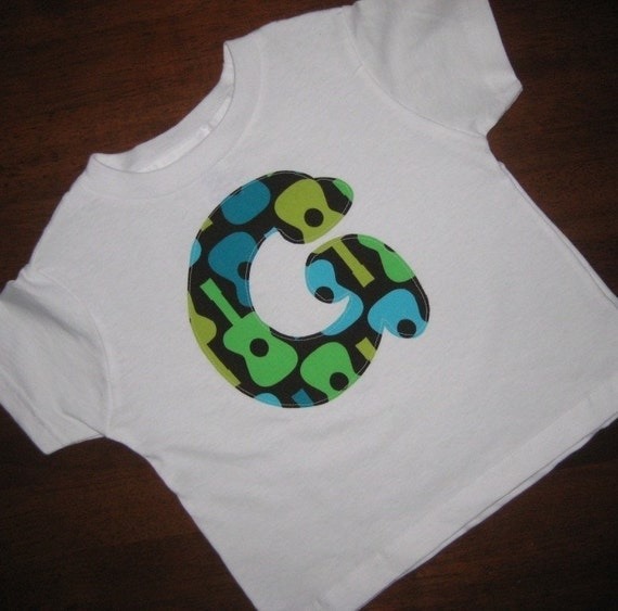 Custom Initial Tee Shirt.....Choose From Over 50 Designer Fabrics
