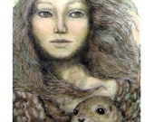 Selkie Celtic sea goddess legend giclee print