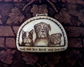 Pug dog Boston Terrier and bull mastiff  Moosup Valley Designs brooch pin
