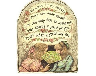 sister secrets inspirational engraved resin wall plaque gift Moosup