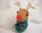 Rudolph in Boot Amigurumi Crochet Pattern