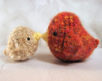 Amigurumi Crochet Pattern - Sweet Little Birds Family Collection